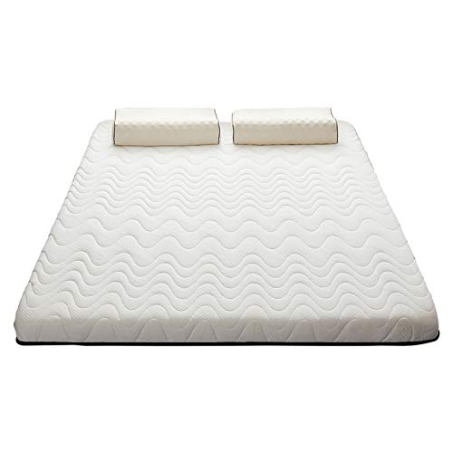 PHGo Queen Mattress, Premium Gel Multi Layered Memory Foam Bed Mattress with Breathable Soft Fabric Cover Bed Mattress White 200x220cm