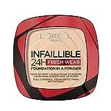 L'Oréal Paris Polvos Compactos Mate Infalible 24H, Larga Duración, Cobertura Media-Alta, Resistente al Agua, Tono: 20 Ivory, 50 g