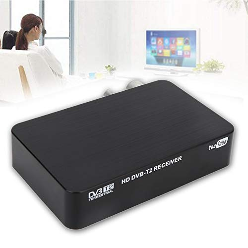 FOLOSAFENAR Caja de TV Digital Potente y eficaz Set-Top Box Sleep Timer HD1080P, para PVR, para TIMESHIFT(European regulations)