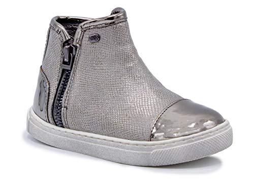 Naturino Express Kids NE Celia Girls Shoe Capsoles Zipper Cap Toe Ankle Boot Pewter 9 Toddler