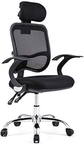ZTBXQ Home Küche Schlafzimmer Home Stuhl Stuhl, der entspannt Werden kann Home Computer Stuhl Boss Drehstuhl Bürostuhl Stuhl (Farbe: Schwarz Größe: 60 cm * 60 cm * 113