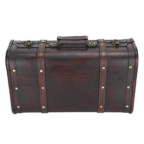 Maleta vintage, maleta decorativa, estilo antiguo personalizado de doble capa portátil hermoso para estudio fotográfico hombres mujeres