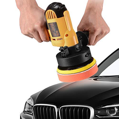 KKmoon Poliermaschine 700W Exzenter Polierer 600-3700 RPM Einstellbare Geschwindigkeit Auto Wachsen Polieren Versiegelung Glasur Maschine Elektrische Polierer für Metall und Möbel