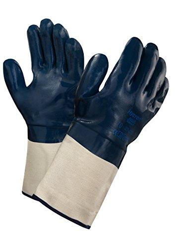 Ansell Hycron 27-810 Öl abweisende Handschuhe, Mechanikschutz, Blau, Größe 10 (12 Paar pro Beutel)