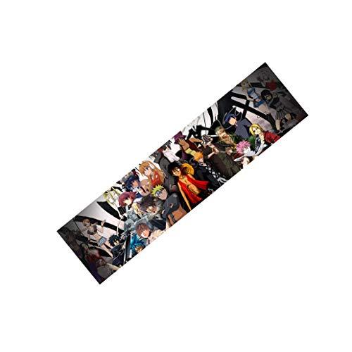 Lija 33 Pulgadas / 48 Pulgadas Tabla Corta Longboard monopatín Animado versión carácter Cinta de Agarre Sin Burbujas (Color : Positive, Size : 48 Inch)