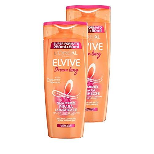 L 'Oréal Paris Elvive Dream Long Shampoo mit Pflanzlichen Keratina für Reparieren die Längen der langhaarige Beschädigte, 3Packungen von 2x 300ml, insgesamt: 1800ml