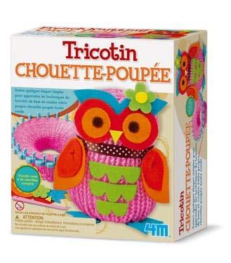 4M Crea Easy Knit: Chouette POUPÉE/Emballage F R A N C A I S, Contient 1 Bobine, Laine colorée et des Instructions détaillées, boîte 22x18x8cm, 8+