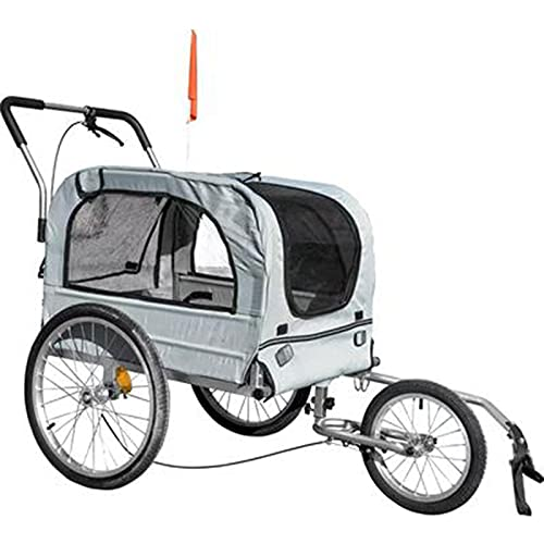 HXXXIN Bicycle Trailer Pet Car Cart Shock Absorption Type Universal Front Wheel Bicycle Trailer Rear Trailer Can Be Used As A Bicycle Trailer Universal Wheel,Gray