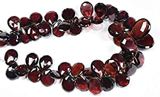 Jewel Beads Natural Beautiful jewellery 8 Inch 8x11-12x17mm Natural Pyrope Red Garnet Faceted Pear Shape Briolette Beads StrandCode:- BB-34657