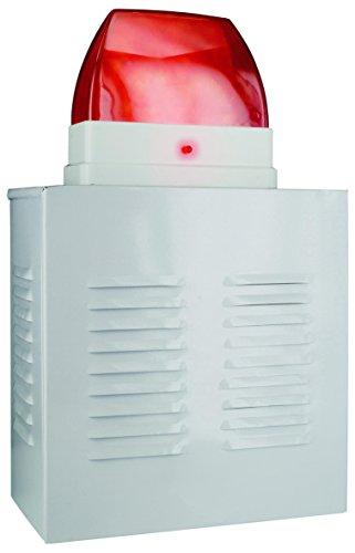 Smartwares SW SA11D 21924 Dummy Alarmanlagen-Fassandenbox mit Blink-LED, Sirene