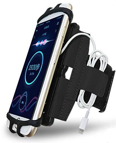 CoverKingz Universal Sportarmband 4,0 - 7,0 Zoll Smartphones - Armtasche mit Schlüsselfach für [Samsung Galaxy S20/S10/S9/S8/S7/A51/A51/A71/A41/A50/A10/J Series/M20/M21/Note u.s.w] Laufarmband Schwarz