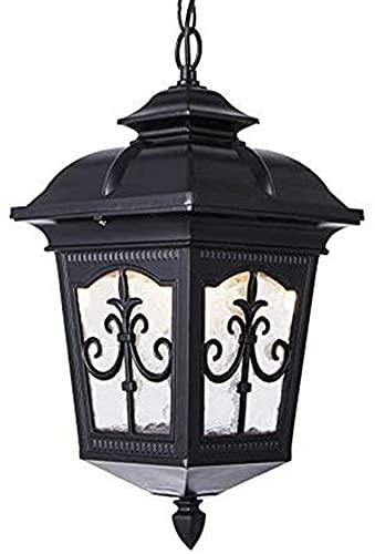 Araña tradicional araña impermeable gazebo jardín al aire libre colgante lámpara cobertizo pasarela villa corredor iluminación fijación linterna linterna de cristal a prueba de lluvia patio colgante i