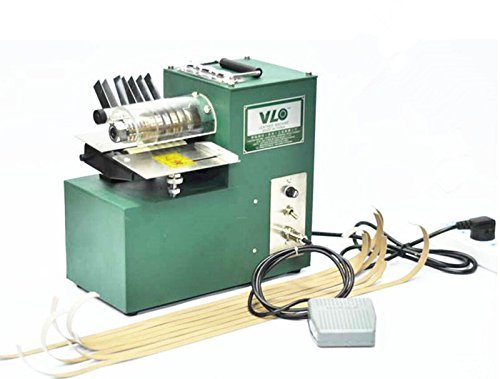 Read About Leather Foot Pedal Double Head Cutting Slitting machine Slitter 220V For shoes, bags, pap...