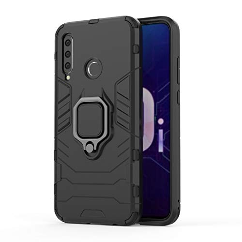 Dmtrab for PC + TPU Shockproof Protective Case with Magnetic Ring Holder for Huawei Honor 10i (Black) (Color : Black)