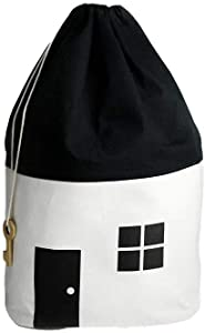 Rejoicing Toy Storage Bags Canvas Toys Storage Bag Black and White Cotton Pocket Collection Organizing Bags Package Bags for Small House Children s Room Decorate