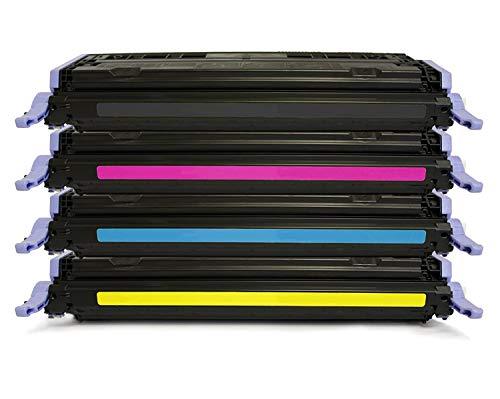 4er Set EOS-Toner kompatibler für HP Color Laserjet 1600 2600 2605 + cm 1015 1017 – kompatibel ersetzt HP Q6000A, Q6001A, Q6002A, Q6003A – Black Cyan Magenta Yellow