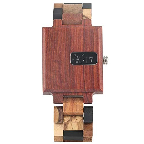 Royal Rectangle Wood Case Men's Watches Creative Turntable Display Mixed...