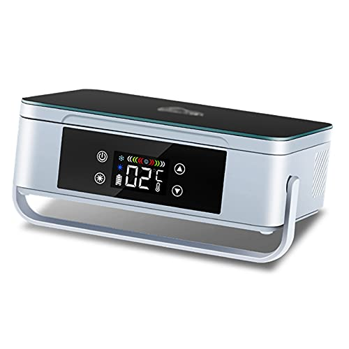 JUNKUN Enfriador de insulina Nevera con Pantalla LED 10200mAh Batería Recargable incorporada Enfriador de insulina Estuche de Viaje para Enfriador de medicamentos para la Diabetes Aprox.