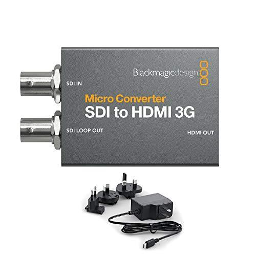 Blackmagic Conversor Micro Converter SDI a HDMI 3G WPSU - Con alimentación...