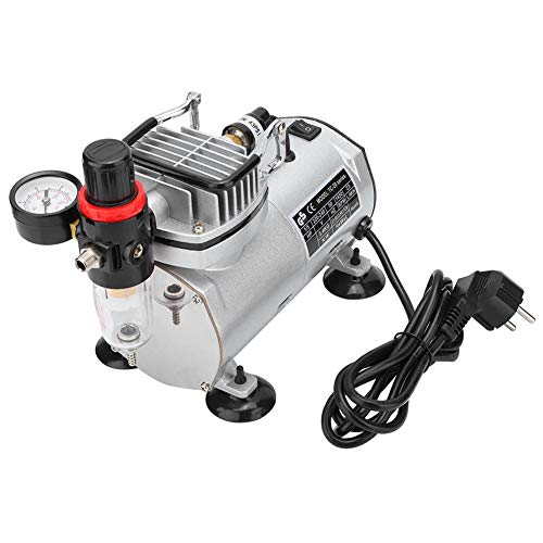 Piston type silent piston compressor pump for airbrush