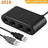 [2019 Upgraded] Switch Gamecube Controller Adapter, MEEARO Super Smash Bros Nintendo Switch Gamecube Adapter for Switch, Wii U and PC USB with 4 Ports - Plug & Play, No Drivers Needed
