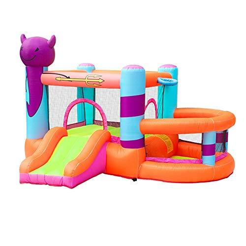 Zhicaikeji Castillo Inflable Inflable Castillo Hinchable, de Grande Inflable Castillo niños Zona de Juegos Cubierta al Aire Libre para Niños (Color : Orange, Size : 295x270x195cm)