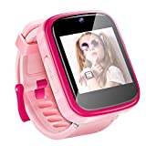 Yehtta Kids Smart Watch Toys for 3-8 Year Old Girls Toddler Watch HD Dual Camera Watch for Kids All in one Pink Birthday for Kids USB Charging Touch Screen Kids Watch Educational Toys