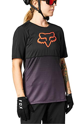 Fox Racing Damen Women's Flexair Short Sleeve Jersey T-Shirt, schwarz/violett, Groß