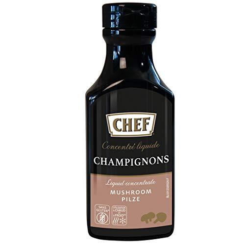 CHEF Flüssiges Konzentrat Pilz, Geschmacksboost für Pilz- und Gemüsegerichte, 100% Natürlicher Geschmack, vegan, 3er Pack (3 x 190ml)