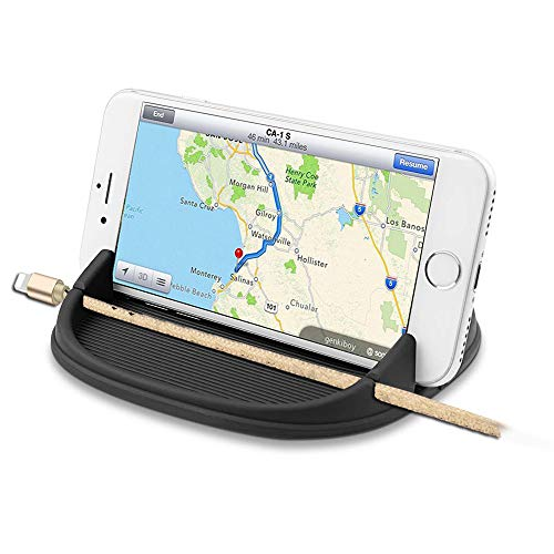 KHTONE Cell Phone Holder for Car, Car Phone Dashboard Pad Mat, Anti-Slip HandFree Car iPhone Mounts, Car Accessories Cell Phone Holder Compatible with Samsung, Android Smartphones, GPS Devices