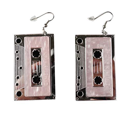 Cassette Tape Retro Dangle Earrings for Women. Many other 80s designs available