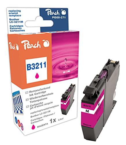 Peach Cartucho de Tinta Magenta Compatible con Brother LC-3211M.