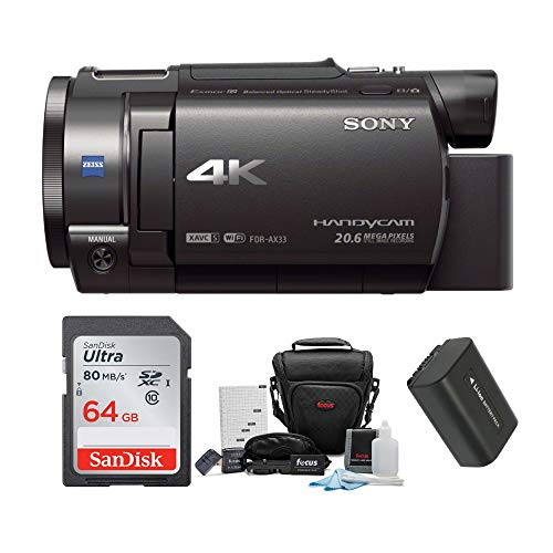 Sony FDR-AX33 4K Camcorder with 64GB...