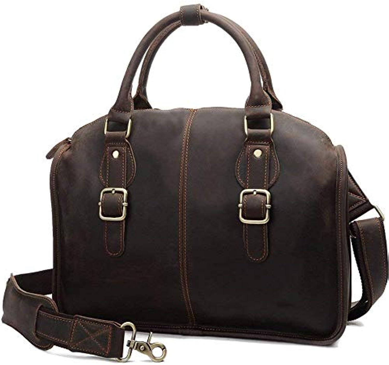 Briefcase Home Herren Tasche Vintage Herren Tasche, Dunkelbraun