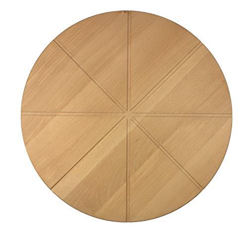 efo Pizzabrett aus Buchenholz mit Kerben für Schneiden in Stücke 40 [cm] | 15.75
