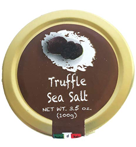 Italian Black Truffle Sea Salt - Imported by Coluccio (3.5 oz, 100 grams)