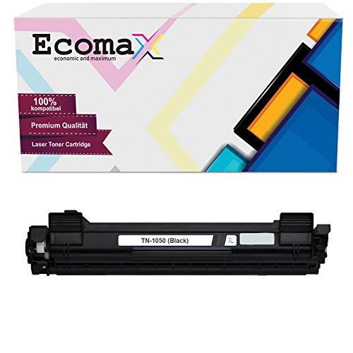 Ecomax Toner compatibel met Brother TN-1050 DCP-1510E 1512 1610W HL-1110R 1112 MFC-1810 1815 1910W - Zwart 1.500 paginacapaciteit