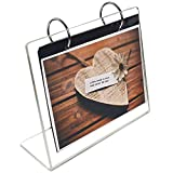 Horizontal Photo Frame Displays 5x7', Sign Stand,Clear Acrylic Slant Back Sign,Frames Photo Clip 13 Shows 26 Photos Desktop Double Sided Display Holder'L' Type,Portrait Style Menu Ad Frame