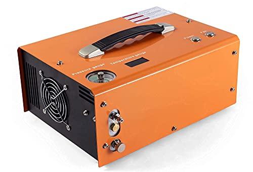 PCP air compressor auto stop 12v/110v pcp airgun compressor 4500psi/310bar oil/water free portable pcp compressor