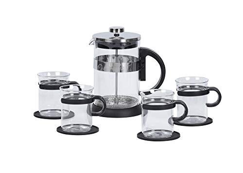 9-tlg. Tee-/Kaffeeset BRISTOL, aus Glas