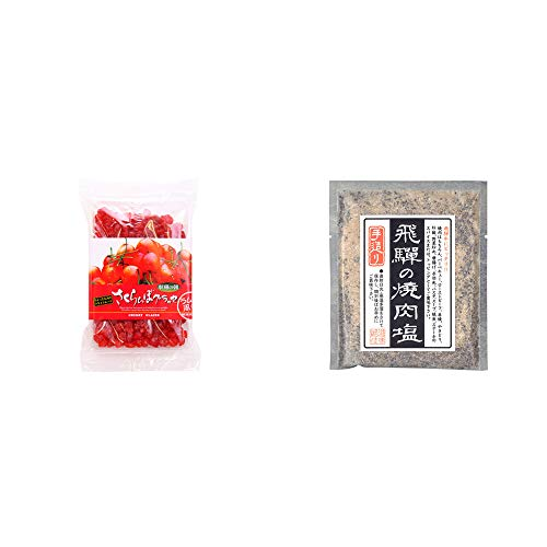 [2点セット] 収穫の朝 さくらんぼグラッセ ラム酒風味(180g)・手造り 飛騨の焼肉塩(80g)