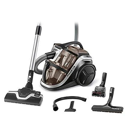 Rowenta Silence Force Multi RO8388EA - Aspirador sin bolsa multiciclónico, silencioso, fácil de limpiar, vaciar y almacenar, incluye con accesorios para coche/hogar, diseño compacto, Motor EffiTech