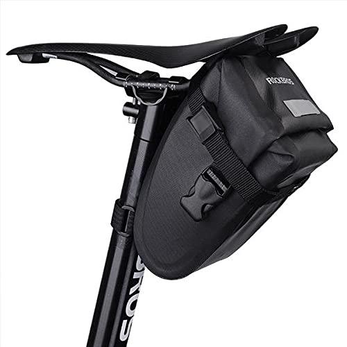 Fahrrad-Sattel-Tasche Schnellzugriff OHNE Reissverschluss für Mountainbike, Rennrad, e-Bike :: Wasserdicht :: Reißverschluss :: einfach abzunehmen :: 2 Stück