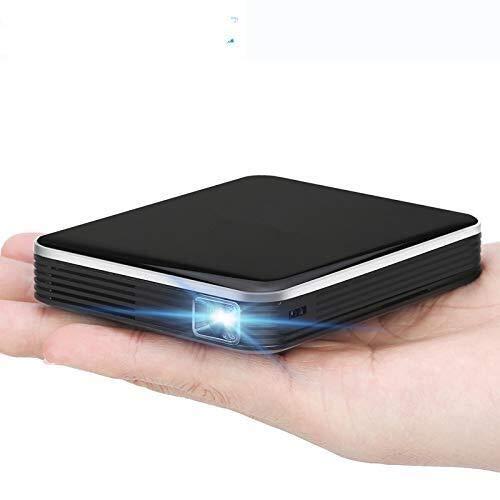 Mini-projector, draagbare DLP-projector, voor films thuis, met statief, ondersteunt geïntegreerde batterij voor Android, 1080P, HDMI Micro TF-kaart