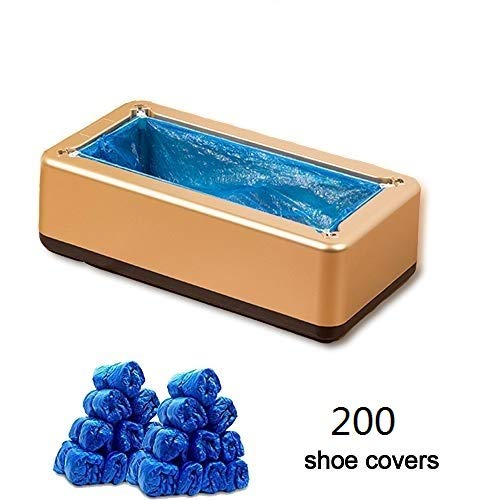 Automatic Shoe Covers Dispenser, with 200 Shoe Covers for All Shoes, Hands Free Shoe Cover Machine