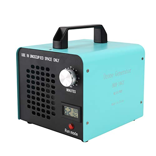 DONGQIMI Generador de ozono Comercial, eliminador de olores, purificador de Aire de ozono Industrial, 10.000mg/h, Ionizador para, Habitaciones, Humo, Coches y Mascotas, Naranja