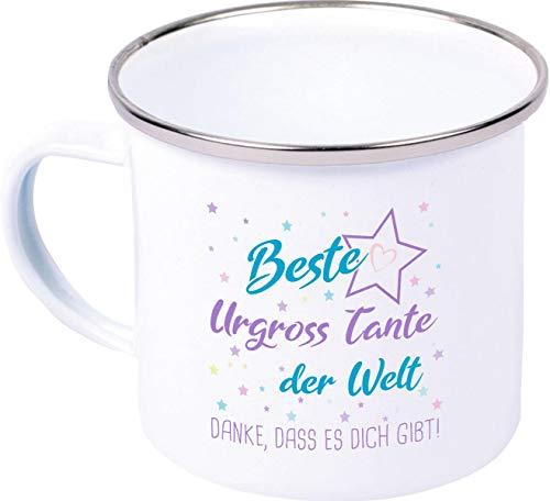 Shirtinstyle Copa Esmalte, Mejor Familia Verwandschaft, Amor, Freude, Dankbarkeit Motivo Elegir - Mejor Urgross Tante del Mundo