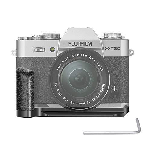 Neewer GB-XT20 Piastra a Sgancio Rapido in Lega di Alluminio Impugnatura Staffa-L Compatibile con Fotocamere Fujifilm X-T30 X-T20 X-T10