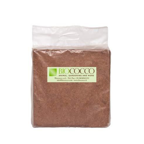 Biococco 5 kg Block Fine Terriccio derivato dal Cocco Confezione Singola da 5 kg sviluppa Fino a 70 Litri di terriccio Universale