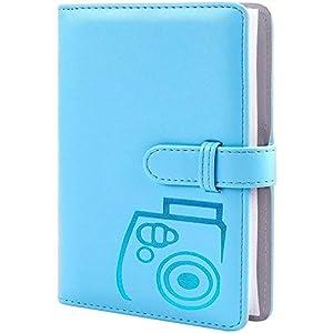 Álbum de fotos de 96 bolsillos con piel sintética, compatible con Fujifilm Instax Mini 11/7S/8/8+9/25/26/90/70/50s Instant Camera Film y Polaroid Snap. (azul)